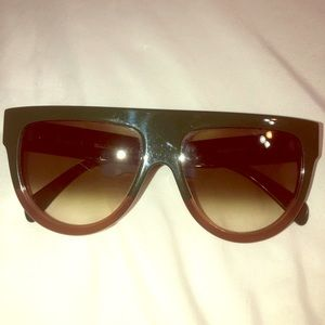 Celine classic olive brown sunglasses flat top